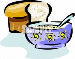 Bread And Soup Clipart
