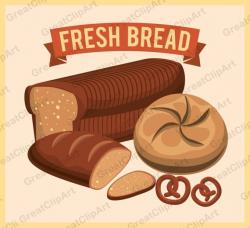 5 Fresh bread clipart Food clipart Breakfast clipart bread
