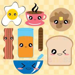 Breakfast Clipart - Food Clip Art, Planner, Scrapbooking Clipart ...