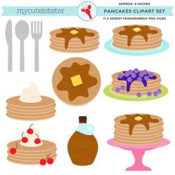 Pancakes Clipart clip art set pancakes breakfast pancake