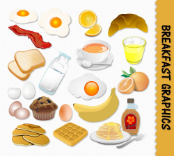Breakfast Food Clip Art Graphics Clipart Scrapbook Muffin Egg