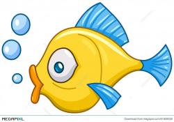 Fish With Bubbles Illustration 51928032 - Megapixl