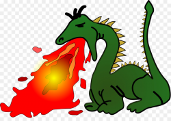 Fire breathing Dragon Clip art - Abstract art green dragon spitting ...