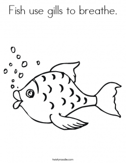 Fish use gills to breathe Coloring Page - Twisty Noodle