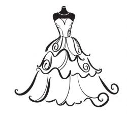 Wedding Dress Clipart Free - ClipArt Best | siluete | Pinterest ...