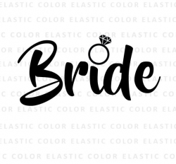 Bride svg bride word art cut file and printable png bride