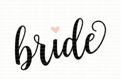 Bride SVG File DXF eps png jpg Printable Clipart Silhouette Studio ...