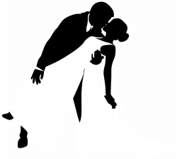 Bride And Groom Kissing Silhouette at GetDrawings.com | Free for ...