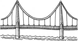 Black & White clipart bridge - Pencil and in color black & white ...
