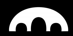 Clipart - Simple 3D Bridge in Black & White