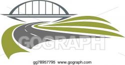 Vector Stock - Road under the railway bridge. Clipart Illustration ...