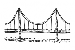 28+ Collection of Brooklyn Bridge Side View Drawing   High quality ...