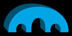 Clipart - Simple 3D Bridge