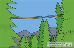 Canada Clipart- capilano_suspension_bridge - Classroom Clipart