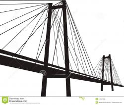 Modern Suspension Bridge Clipart