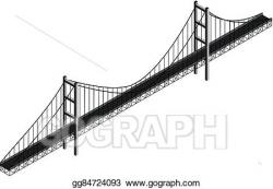 Vector Art - Isometric suspension bridge. Clipart Drawing gg84724093 ...