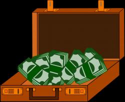 Clipart - Cash Briefcase