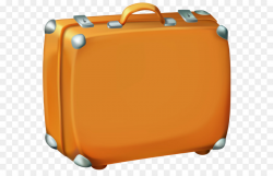 Suitcase Checked baggage Travel Clip art - Brown Suitcase Clipart ...