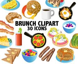 BRUNCH CLIPART breakfast clipart brunch clip art food
