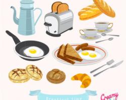 Breakfast clip art | Etsy