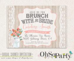 SHABBY BRUNCH Custom Bridal Brunch Invitation Card // Brunch With ...