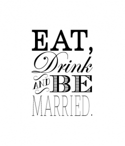 Eat, Drink and be Married Rubber Stamp Wedding rubber stamp ...