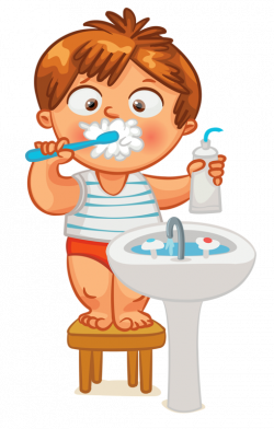 Clip art - Kid - Brush Teeth | Clock Time | Pinterest | Brush teeth ...