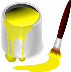 yellow paint | yellow paint with paint brush clip art | Everything ...