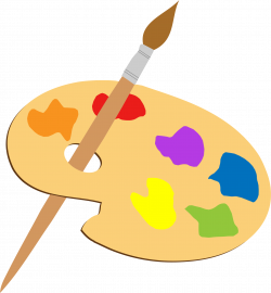 Clipart - Artists Palette And Brush