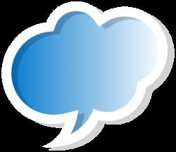 Bubble Speech Cloud Blue PNG Clip Art Image | Gallery Yopriceville ...
