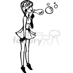 Silhouette Girl Blowing Bubbles at GetDrawings.com | Free for ...