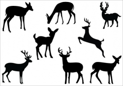 Baby Deer Silhouette Clip Art | Clipart Panda - Free Clipart Images