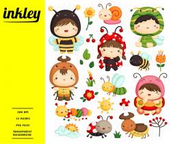 Kid Bugs Clipart, Kid Bugs Clip Art, Kid Bugs Png, Snail Clipart, Bee  Clipart, Ladybug Clipart, Caterpillar Clipart, Butterfly Clipart