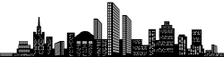 Cityscape Silhouette Clip Art PNG Image   ss   Pinterest   Clip art ...