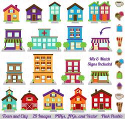 Town, City, Village Clipart & Vector ~ Illustrations ~ Creative Market