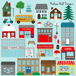 Community Buildings Clipart Teaching Resources | Teachers Pay Teachers