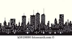 city building clipart black and white 3 | Clipart Station