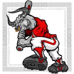 Bull Baseball Player - Vector Clipart Bulls