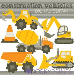 Construction Vehicles Clipart -Personal and Limited Commercial ...