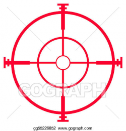 Drawing - Sniper rifle sight or scope. Clipart Drawing gg55226852 ...