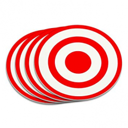 Target Sniper Scope Bullseye Coaster Set: Amazon.co.uk: Kitchen & Home
