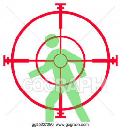 Drawing - Sniper rifle sight or scope. Clipart Drawing gg55227290 ...
