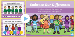 Embrace Our Differences PowerPoint - bullying, racism, racist