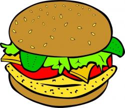 Chicken Burger clip art Free vector in Open office drawing svg ...