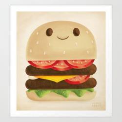 52 best Burger Art images on Pinterest   Hamburgers, Burgers and ...