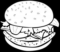Clipart - Fast Food, Lunch-Dinner, Chicken Burger