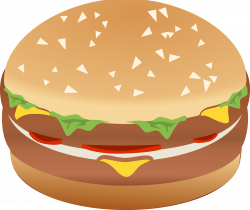 Clipart - Hamburger Burger Remix with Colors