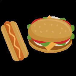 Burger clipart hotdog hamburger - Pencil and in color burger clipart ...