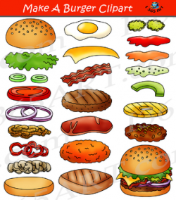 Build a Burger Make Hamburger Clipart Bundle by I 365 Art   TpT
