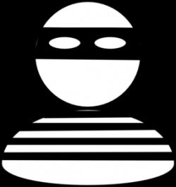 Burglar Black & White Clip Art at Clker.com - vector clip art online ...